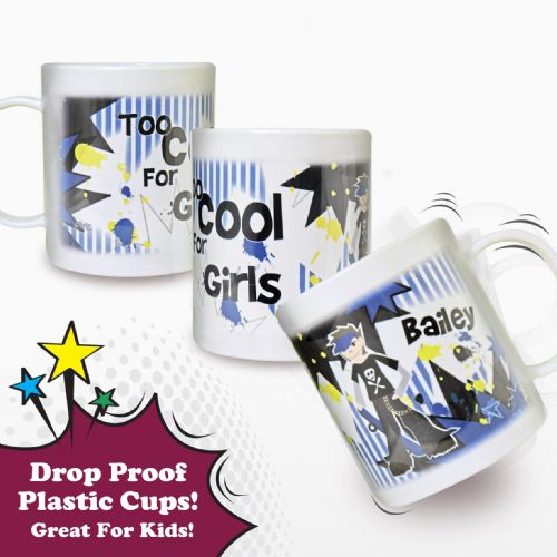 Personalised Too Cool Boy Plastic Cup